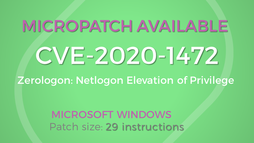 Micropatch for Zerologon is available